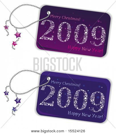 New year trinket tags 2009.  To see similar, please VISIT MY GALLERY.