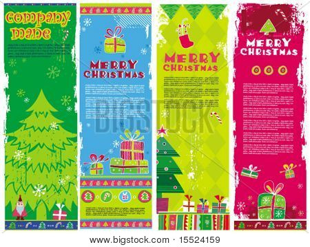 Vertical Christmas banners, vector. To see similar, please VISIT MY GALLERY.