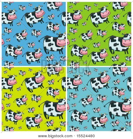 Cute friendly cow. Beautiful pattern.Vector. To see similar, please VISIT MY GALLERY.