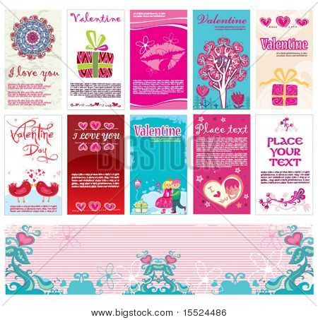 Valentine`s day cards and banner templates 13. To see similar, please VISIT MY GALLERY.