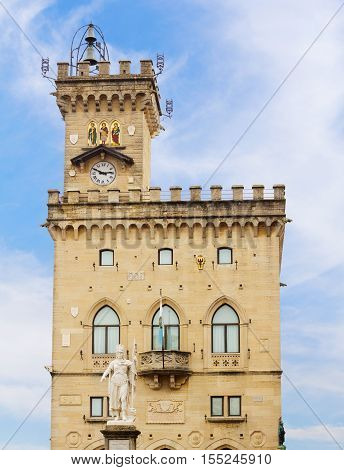 Palazzo Pubblico is the seat of the government of San Marino Italy