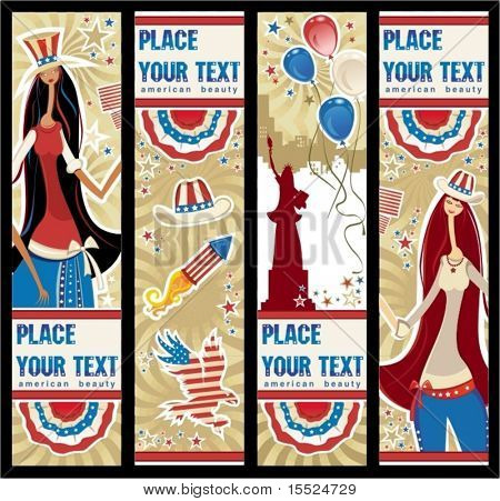 American patriotic vertical banners.  To see similar, please VISIT MY GALLERY.