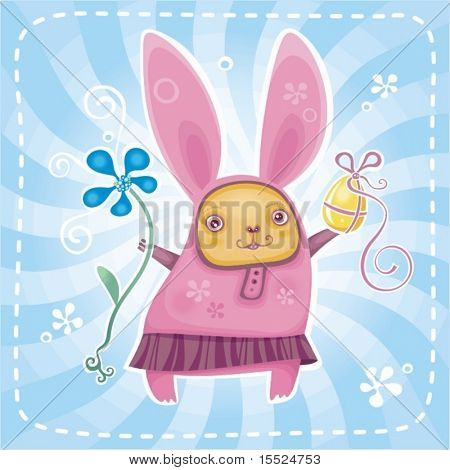 Funny bunny brings you Easter presents. To see similar, please VISIT MY GALLERY.