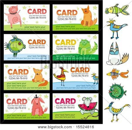Animals cards. To see similar, please VISIT MY PORTFOLIO