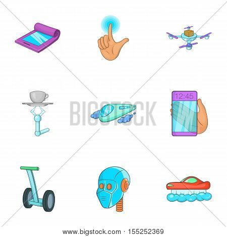 New feature icons set. Cartoon illustration of 9 new feature vector icons for web