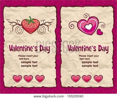 Valentine's day vintage paper backgrounds