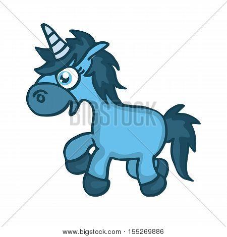 Cartoon horse walking design for kids vector illustration