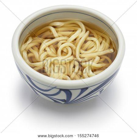 kake udon, japanese udon noodles in broth