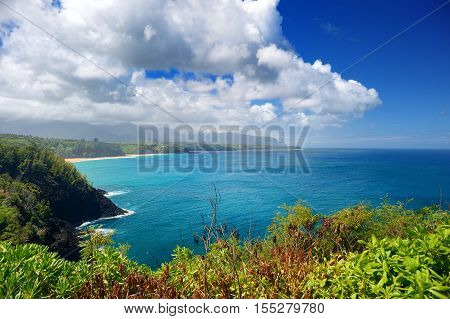 Beautiful landscape of Kauai island Hawaii USA