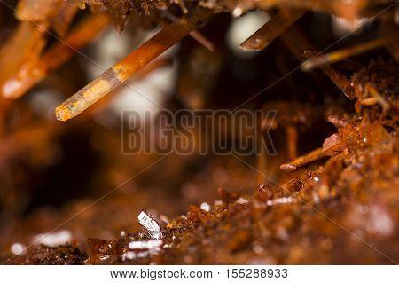 red gypsum selenite mineral specimen the natural