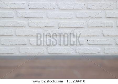 Outdoor white brick wall texture stock photo