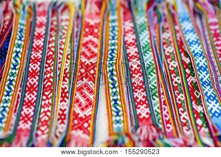 Details Of A Traditional Lithuanian Weave