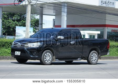 CHIANG MAI THAILAND - OCTOBER 9 2016: Private Pick up Car Toyota New Hilux Revo. On road no.1001 8 km from Chiangmai city.