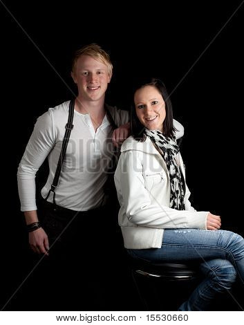 Young Couple Casual Posing