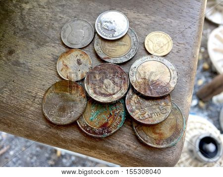 money, silver, penny, fund, purse, argent, medal, coin, dollar, token, piece, specie