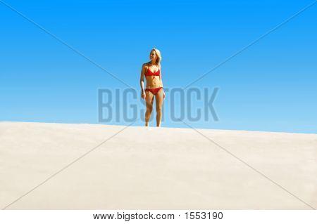 Lady In Red Bikini