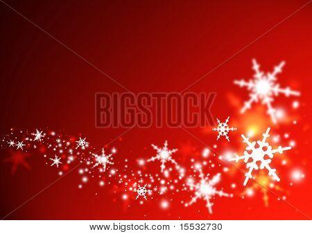 Illustration der Schneeflocken in einem Strudel.