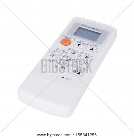 Air Conditioner Remote Control Isolated On White Background