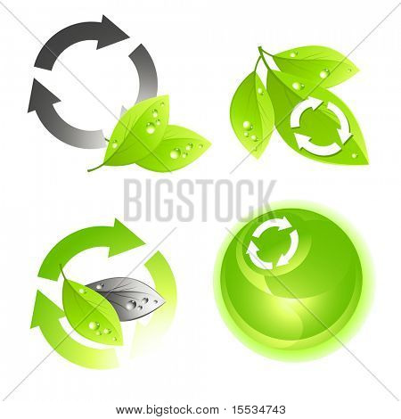 Green icon vector set.