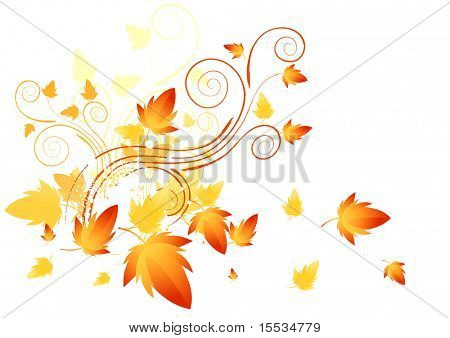 Abstract swirls of nature. Vector illustration.