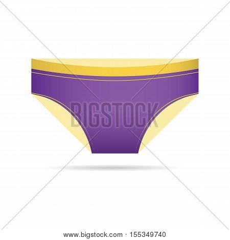 Female panties types flat thin bikini underpants vector icon. Woman underwear fashion styles bikini underpants collection. Underclothes bikini underpants design elements classic briefs.