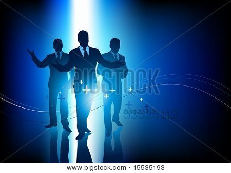 A small group of professional business people. Vector illustration.
