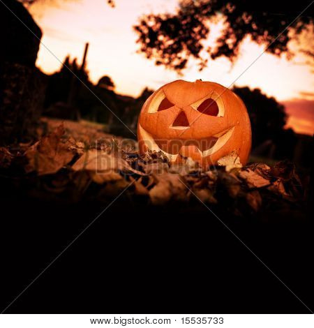 Halloween background with copy space.