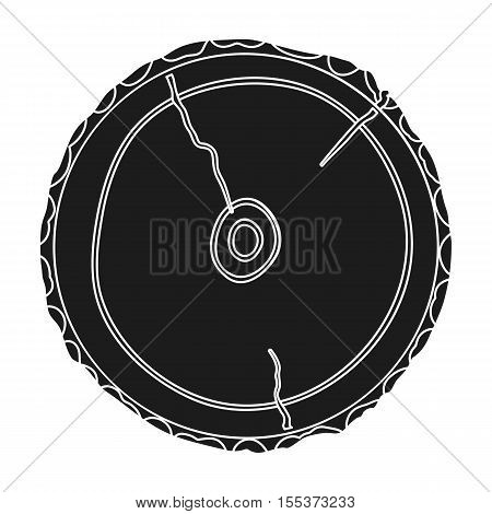 Cross section icon in black style isolated on white background. Sawmill and timber symbol vector illustration.