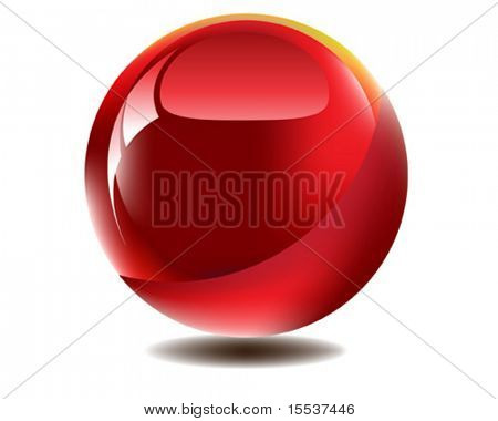 vector red glossy orb