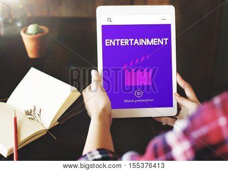 Entertainment Media Movie Director Action Film Slate Concept