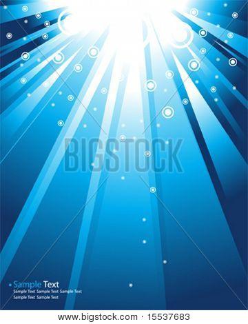 Vector de rayas azules