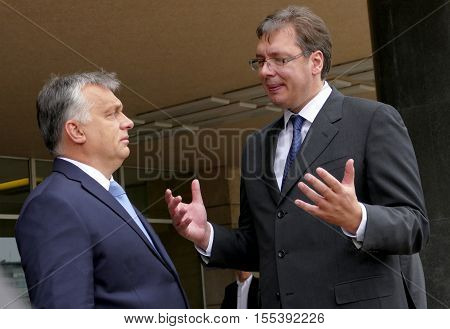 Hungarian Prime Minister Viktor Orban At The Official Visit To Aleksandar Vucic, Prime Minister Of S