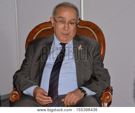 Porlamar, Venezuela. September 18th 2016. Minister of Foreign Affairs of Algeria Ramtane Lamamra during the meeting