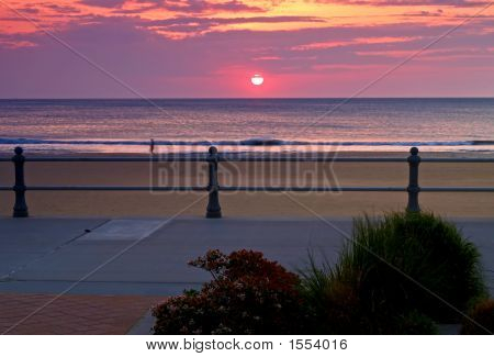 The Sunrise At The Virginia Beach, Usa