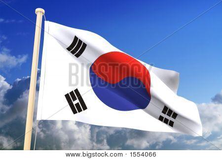 South Korea Flag (Clipping Path)