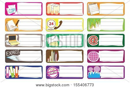 Bank and Stock market Icon symbol business, indrustry sticker item print for short note cartoon graphic design.