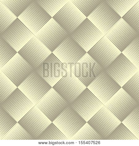 Line shaded geometric seamless pattern. Endless texture. Vector illustration