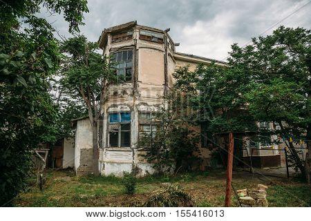 Old house, historical building, manor of earl Vorontsov, Gelendzhik, Russia