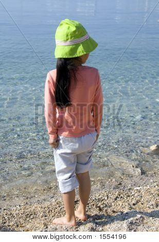 Girl On Beach