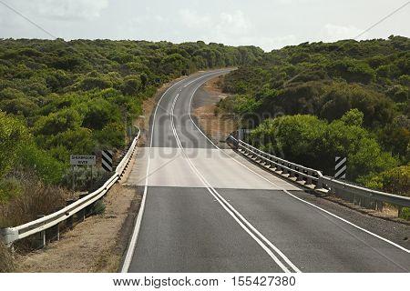 Empty pieace of road, Great Ocean Road, Australia