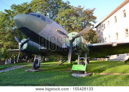 aircraft / Slovakia Banska Bystrica 28 September 2014 Memorial Military equipment of World War 2