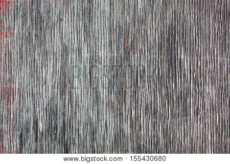 Old gray wood texture with natural vertical lines. Wooden wall background. macro view photo