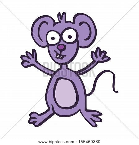 Happy mouse cartoon vector art collection stock