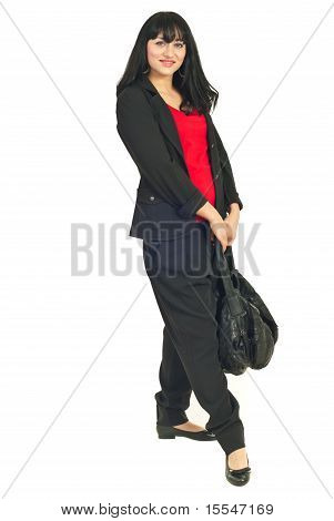 Full Lenght Of Woman With Bag