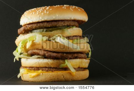 Hambeurger Over Black