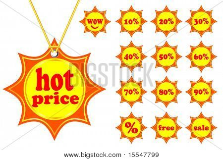 set of sun tags summer hot price