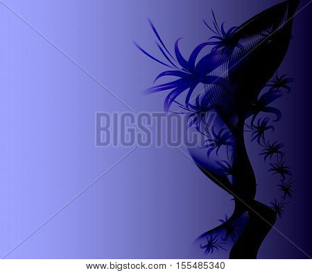 Abstract dark ominous forms reminiscent of the corals.. EPS10 vector illustration.