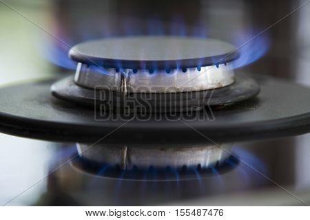 Detail shot of a burner