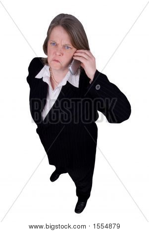 Businesswoman Making A Cell Phone Call