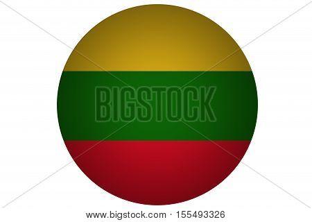 3D Lithuania flag ,Lithuania national flag illustration symbol.